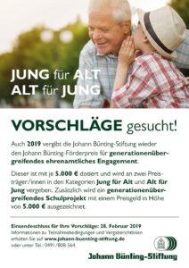 Ausschreibungsplakat Johann Bünting-Förderpreis 2019